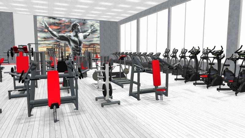 3D-планировка тренажерного зала в Беларуси